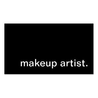 artiste de maquillage cartes de visite professionnelles
