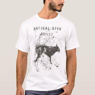 artiste de naissance (noir et blanc) t-shirt