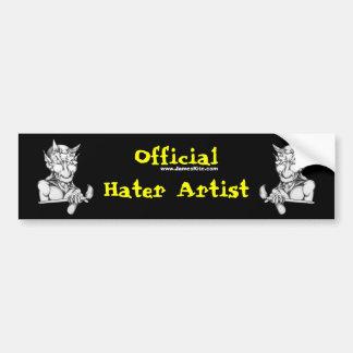 Artiste officiel de haineux adhésifs pour voiture