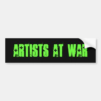 Artistes à la guerre L adhésif pour pare-chocs Autocollant Pour Voiture