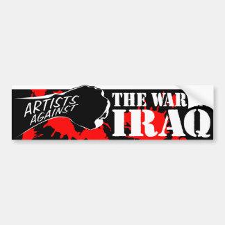 Artistes contre la guerre en Irak Adhésif Pour Voiture