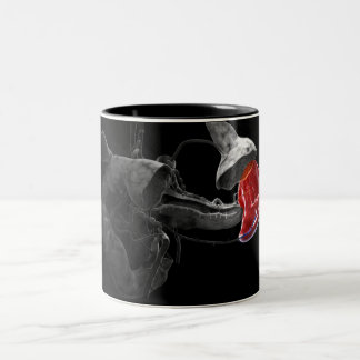 Artistic 3d rendering of the spleen Two-Tone coffee mug