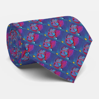 Artistic abracadabra Geometric Blue Tie