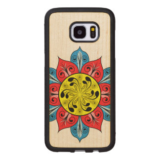 Artistic Abstract Floral Design Wood Samsung Galaxy S7 Edge Case