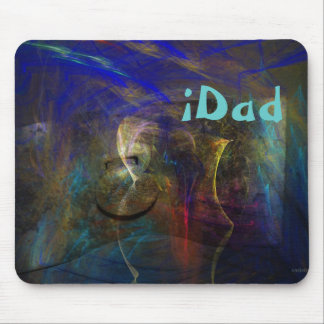 Artistic abstract Mousepad with custom iDad text