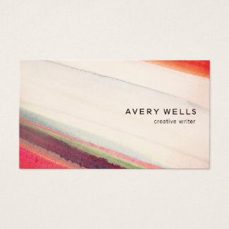 Artistic Abstract Watercolor Art Business Card