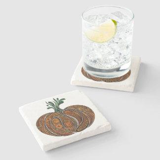 Artistic All Season Pumpkin Design Coaster Stone Beverage Coaster
