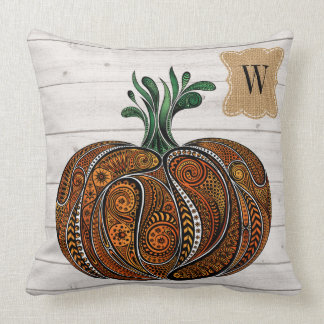 Artistic All Season Pumpkin Design Pillow