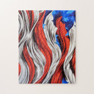 Artistic American Flag Jigsaw Puzzle