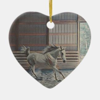 Artistic Arabian Ceramic Heart Ornament