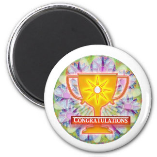 Artistic AWARD : Text CONGRATULATIONS Magnet