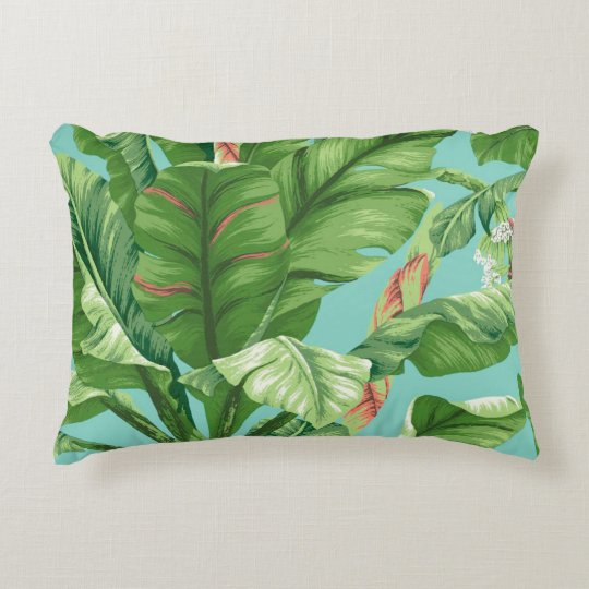 Artistic Banana Leaf & flower hand painting Decorative Pillow