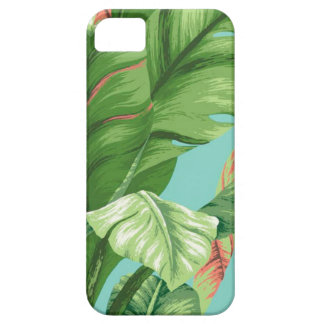 Artistic Banana Leaf & flower watercolor painting iPhone 5 Cover