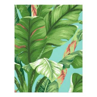 Artistic Banana Leaf & flower watercolor painting Letterhead