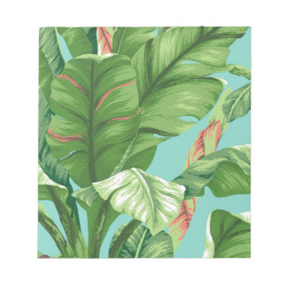 Artistic Banana Leaf & flower watercolor painting Notepad