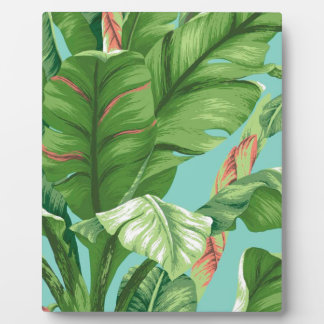 Artistic Banana Leaf & flower watercolor painting Plaque