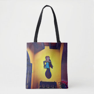 Artistic Bell In Naive Of Church Tote Bag
