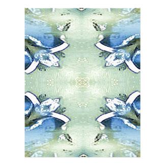 Artistic Blue Green Personalizable Chic  Pattern Letterhead