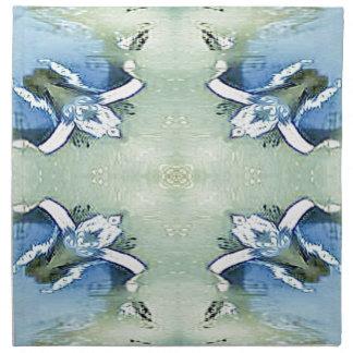 Artistic Blue Green Personalizable Chic  Pattern Napkin