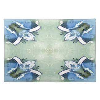 Artistic Blue Green Personalizable Chic  Pattern Placemat