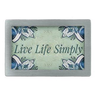 Artistic Blue Green Positive Life Modern Pattern Belt Buckles