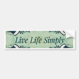 Artistic Blue Green Positive Life Modern Pattern Bumper Sticker