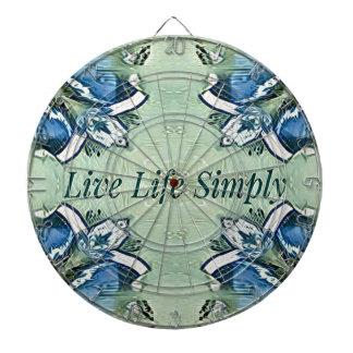 Artistic Blue Green Positive Life Modern Pattern Dartboard