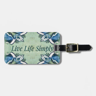 Artistic Blue Green Positive Life Modern Pattern Luggage Tag
