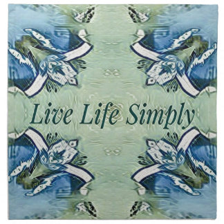 Artistic Blue Green Positive Life Modern Pattern Napkin