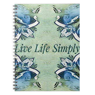 Artistic Blue Green Positive Life Modern Pattern Notebooks
