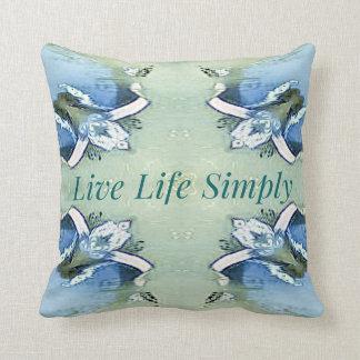 Artistic Blue Green Positive Life Modern Pattern Throw Pillow