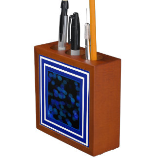 Artistic Blue Moon Desk Organizer