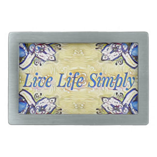 Artistic Blue Yellow Positive Life Funky Pattern Belt Buckle