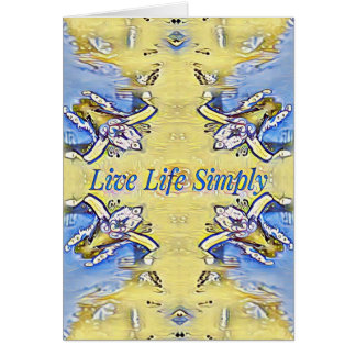 Artistic Blue Yellow Positive Life Funky Pattern Card