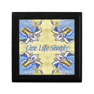 Artistic Blue Yellow Positive Life Funky Pattern Gift Box