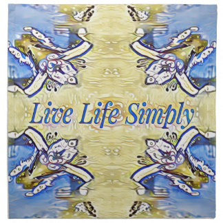 Artistic Blue Yellow Positive Life Funky Pattern Napkin