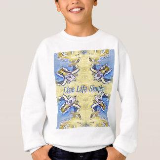 Artistic Blue Yellow Positive Life Funky Pattern Sweatshirt