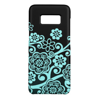 Artistic Bluish Flower Pattern Case-Mate Samsung Galaxy S8 Case