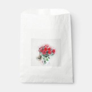 Artistic bouquet of flowers favour bag