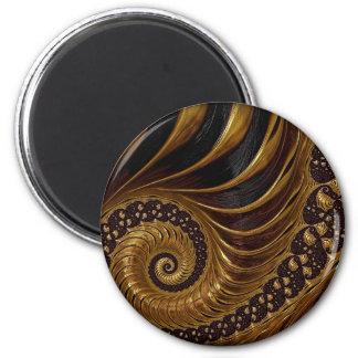 Artistic brown fractal design refrigerator magnets