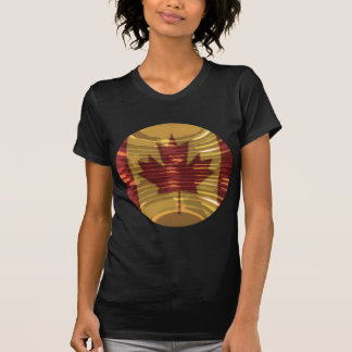 Artistic Canadian Map and MapleLeaf T-Shirt