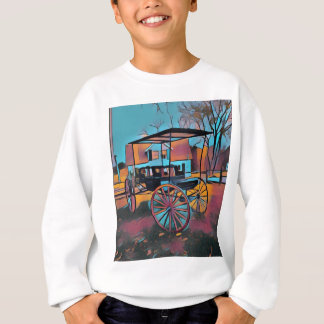 Artistic Carriage in Front Of Farmhouse Sweatshirt