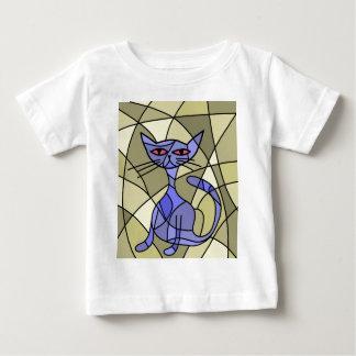 Artistic cat - blue baby T-Shirt