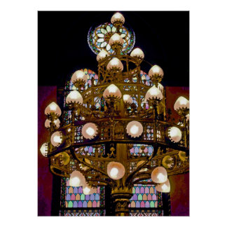 Artistic Chandelier / Lights Poster