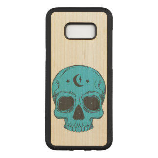 Artistic Classic Skull (blue) Carved Samsung Galaxy S8+ Case
