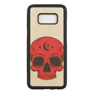Artistic Classic Skull (red) Carved Samsung Galaxy S8 Case