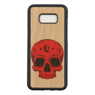 Artistic Classic Skull (red) Carved Samsung Galaxy S8+ Case
