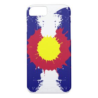 Artistic Colorado flag paint splatter iPhone7 case