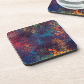 Artistic Colorful Grunge Spots | Coaster