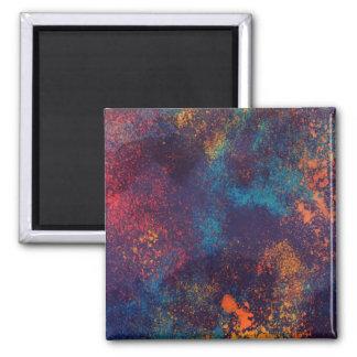Artistic Colorful Grunge Spots   Magnet